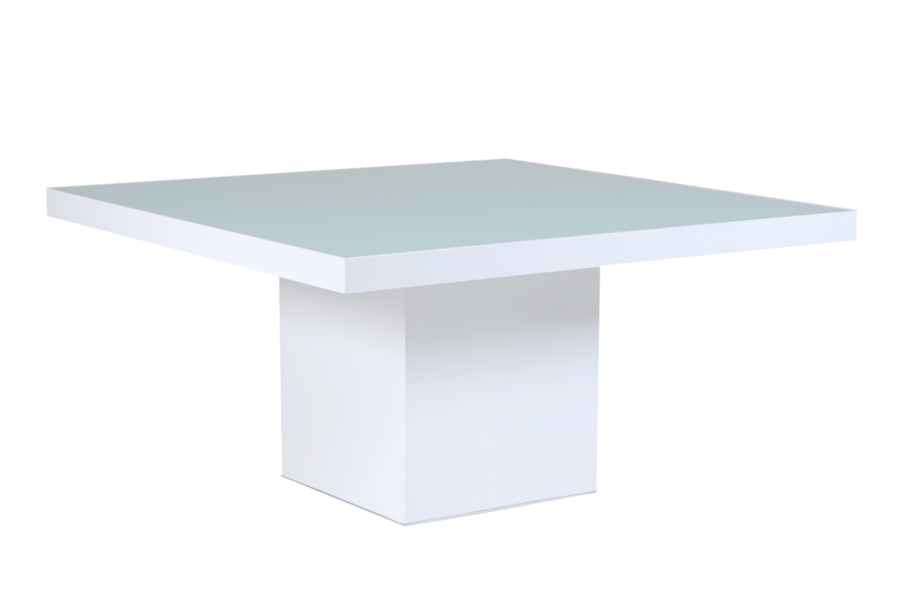 mesa de jantar double quadrada